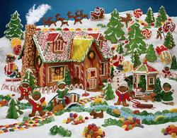 Gingerbread Fun Sweets Family Puzzle