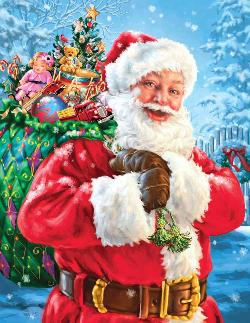 Santa's Magic Bag Snow Jigsaw Puzzle