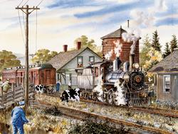 Temiscouata Railway Trains Jigsaw Puzzle