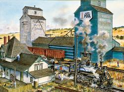 Meeting Creek Trains Jigsaw Puzzle