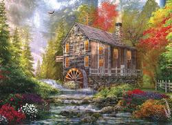 Sunset At The Old Mill Sunrise/Sunset Jigsaw Puzzle