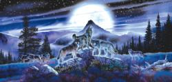 Night Wolves Wolves Jigsaw Puzzle