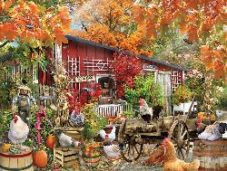 Barnyard Chickens Farm Animals Jigsaw Puzzle