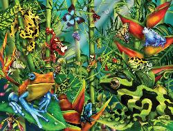 Frog Frenzy Reptiles and Amphibians Jigsaw Puzzle