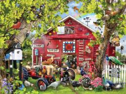 Pretty Boys Chickens & Roosters Jigsaw Puzzle