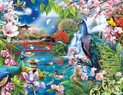 Peacock Garden Mother's Day Jigsaw Puzzle