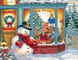 Frosty's Toy Box Christmas Jigsaw Puzzle