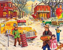 Hometown (Coca-Cola) Americana & Folk Art Jigsaw Puzzle