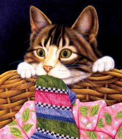 Sock Crazy Kittens Jigsaw Puzzle