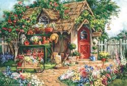 Gardener's Heaven Cottage / Cabin Jigsaw Puzzle