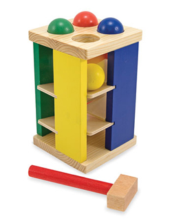 Pound and Roll Tower Toy