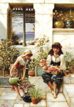Flower Girls People Jigsaw Puzzle