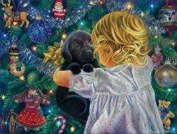 Puppy for Christmas Christmas Jigsaw Puzzle