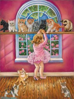 Dance Class Kittens Jigsaw Puzzle