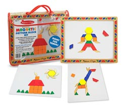 Magnetic Pattern Block Kit Educational Magnetic