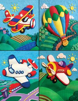 First Flight Balloons Children's Puzzles