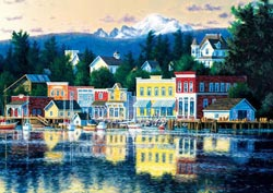 Lakeside Afternoon (Shorelines) Skyline / Cityscape Jigsaw Puzzle