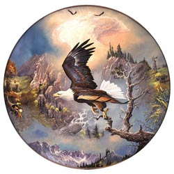 Bald Eagle Eagles Round Jigsaw Puzzle
