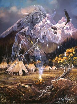 Spirit of the Flame Native American Jigsaw Puzzle
