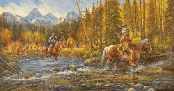 Blackfoot Trapper Native American Jigsaw Puzzle