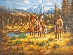 Antoine Godin's Revenge Native American Jigsaw Puzzle