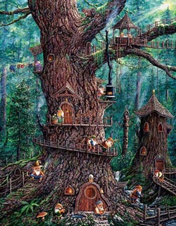 Forest Gnomes Fantasy Large Piece