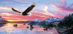 Silent Wings of Freedom Mountains Jigsaw Puzzle