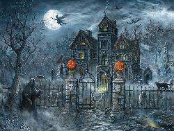 Uninvited Guest Halloween Jigsaw Puzzle