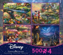 Iconic Disney 4 in 1, 500 Piece Thomas Kinkade Disney Dreams Multi-Pack Disney Multi-Pack
