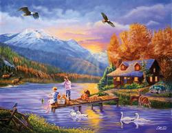 Grandpa's Cabin Lakes / Rivers / Streams Jigsaw Puzzle