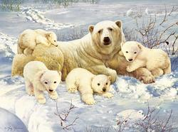 Polar Family Snow Jigsaw Puzzle