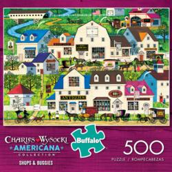 Shops & Buggies (Americana Collection) Landscape Jigsaw Puzzle