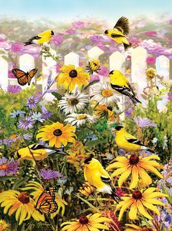 Gold Finch Garden Jigsaw Puzzle
