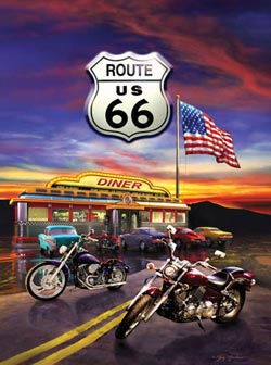 Route 66 Diner Nostalgic / Retro Jigsaw Puzzle