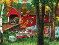 Picnic by the Bridge Picnic Jigsaw Puzzle