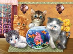 Anyone Looking? - Scratch and Dent Cats Jigsaw Puzzle