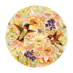 Hummingbirds and Berries Birds Jigsaw Puzzle