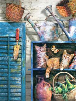 Garden Cupboard - Scratch and Dent Kittens Jigsaw Puzzle
