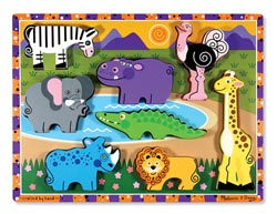 Safari Animals Wooden Jigsaw Puzzle
