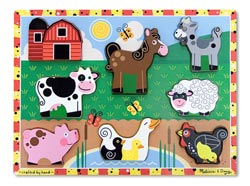 Farm Farm Animals Jumbo / Chunky / Peg Puzzle