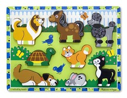Pets Animals Chunky / Peg Puzzle