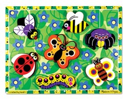 Insects Butterflies and Insects Chunky / Peg Puzzle