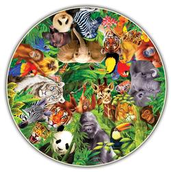 Wild Animals (Round Table Puzzle) Pandas Round Jigsaw Puzzle