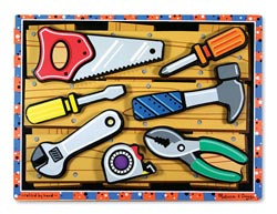 Tools Everyday Objects Chunky / Peg Puzzle