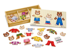 Wooden Bear Family Dress-up Puzzle Bears Wooden Jigsaw Puzzle