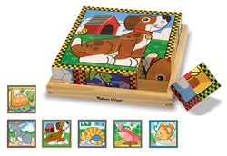 Pets Cube Puzzle Other Animals Wooden Jigsaw Puzzle