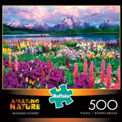 Mountain Flowers Nature Jigsaw Puzzle