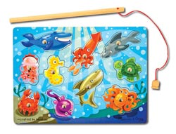 Magnetic Puzzle - Fishing Under The Sea Children's Puzzles
