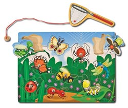 Magnetic Puzzle - Bug-Catching Butterflies and Insects Children's Puzzles