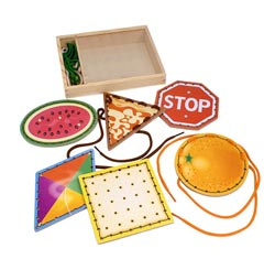 Lace & Trace Shapes Toy